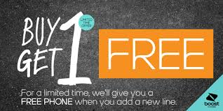 Buy 1 Get 1 Phone Free deal for the Holidays